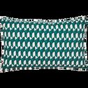 Coussin motifs art déco vert 30x50 cm-CARO