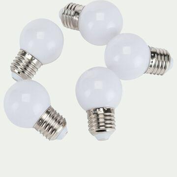 Ampoule LED culot E27 en lot de 5 - blanc froid D5cm-AMPOULE