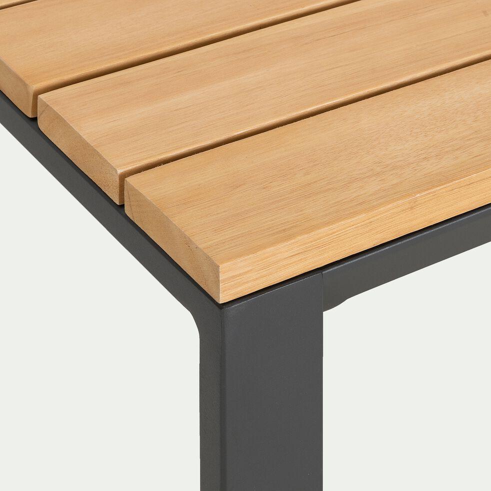 Salon de jardin en aluminium - gris (4 places)-MAHON