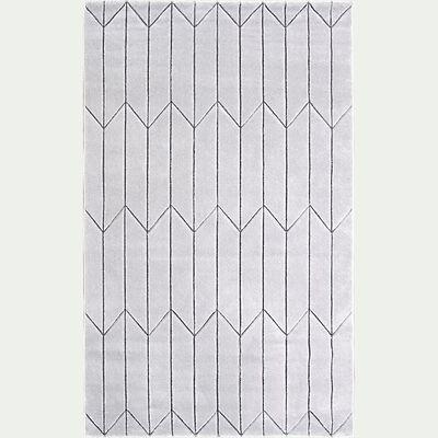 Tapis à motifs géométriques - gris 160x230cm-ORPHEE