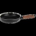 Poêle en aluminium noir D24cm (tous feux dont induction)-PADENA