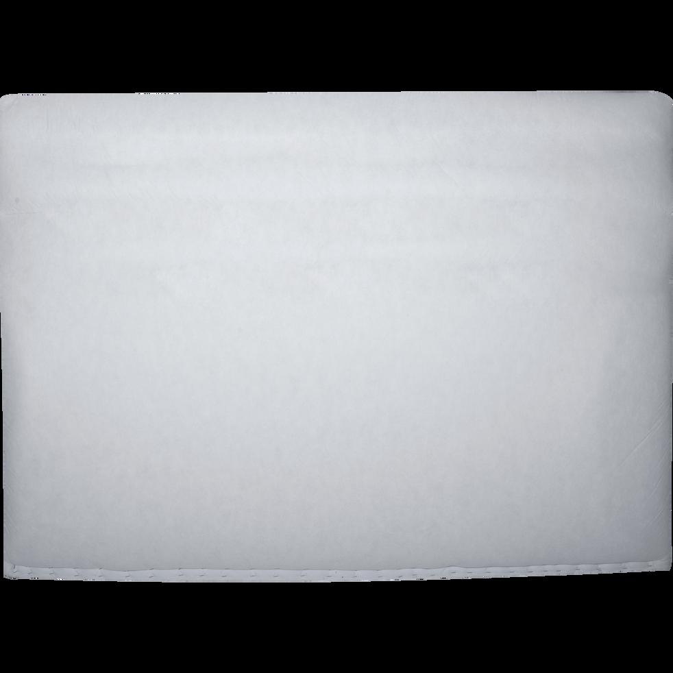 structure de t te de lit recouverte d 39 un intiss blanc l180 cm honore t tes et tiroirs de. Black Bedroom Furniture Sets. Home Design Ideas