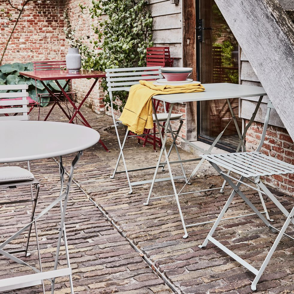 Table de jardin pliante rouge sumac L110cm (4 places)-Cervione