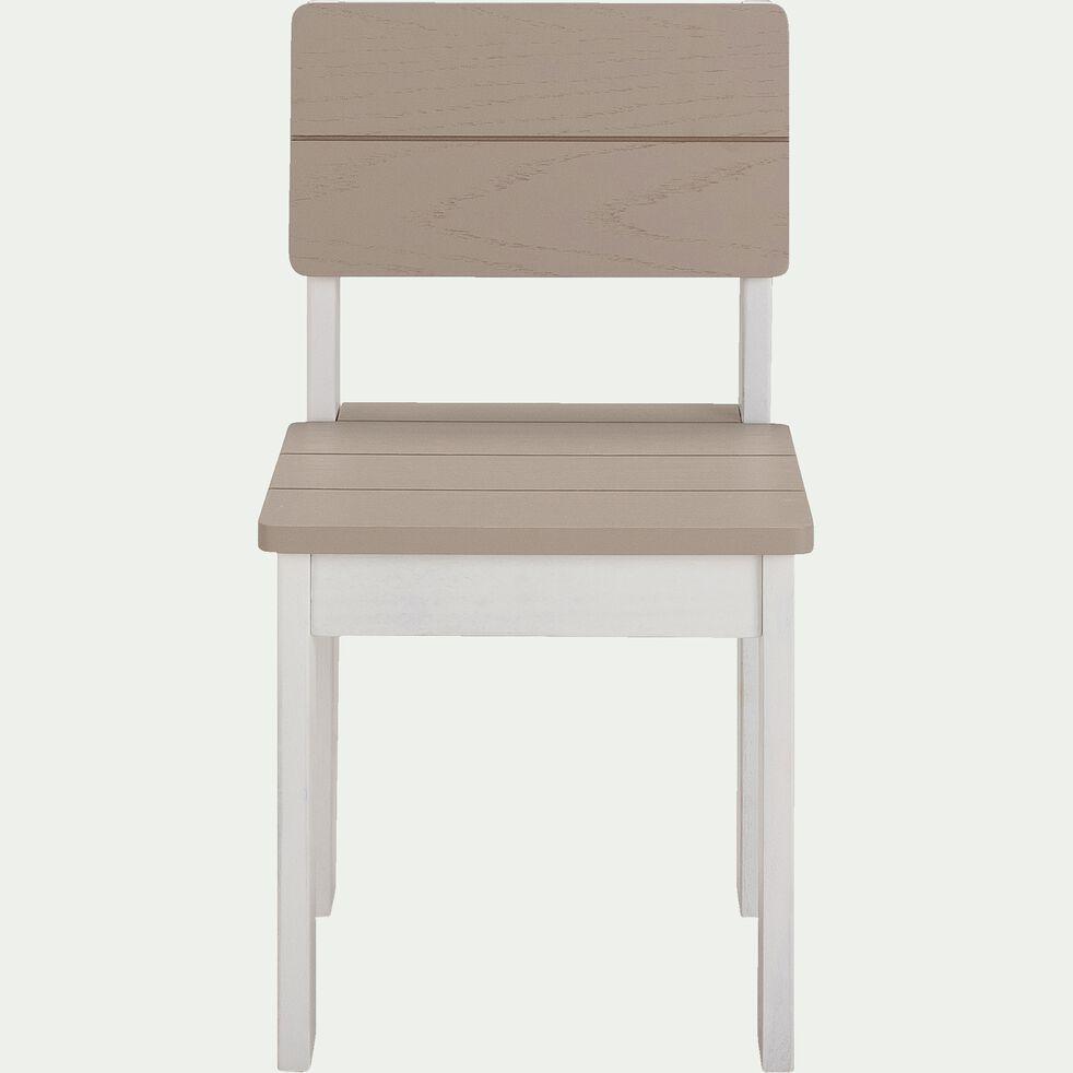 Chaise en acacia pour enfant - gris-Jules