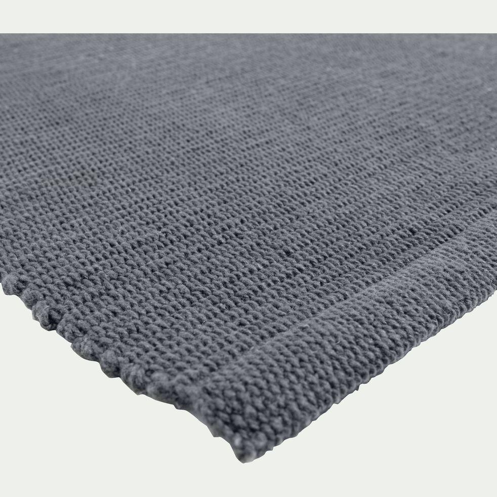 Descente de lit en coton - gris restanque 50x80cm-CAMELIA