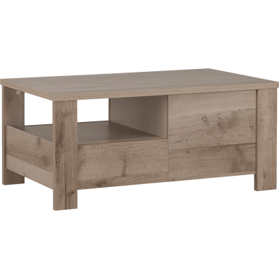Table basse bicolore avec 2 tiroirs-SHA