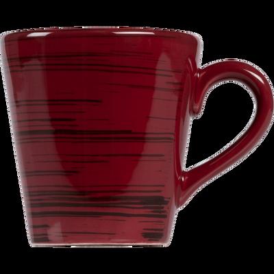 Mug en faïence rouge sumac effet patiné-GASTON