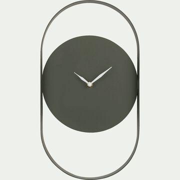 Horloge en métal coloré vert cèdre-Chalcis