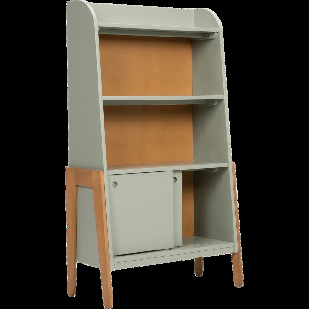 biblioth que en acacia pour enfant vert olivier raphael tag res et biblioth ques enfant. Black Bedroom Furniture Sets. Home Design Ideas
