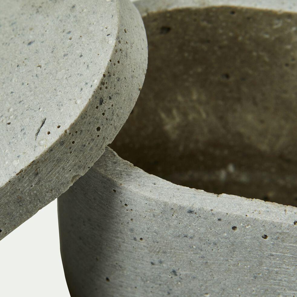 Boîte ovale déco effet béton-CALCIS