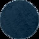Tapis rond imitation fourrure bleu figuerolles - Plusieurs tailles-ROBIN