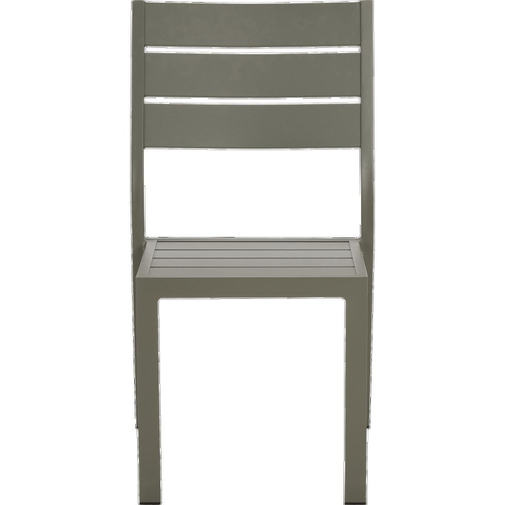 Empilable Cèdre Alep En Aluminium Chaise Jardin De Vert qUMVpSGz