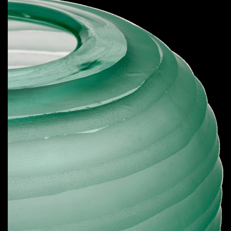 Vase en verre vert mat H22 cm-ANDREA