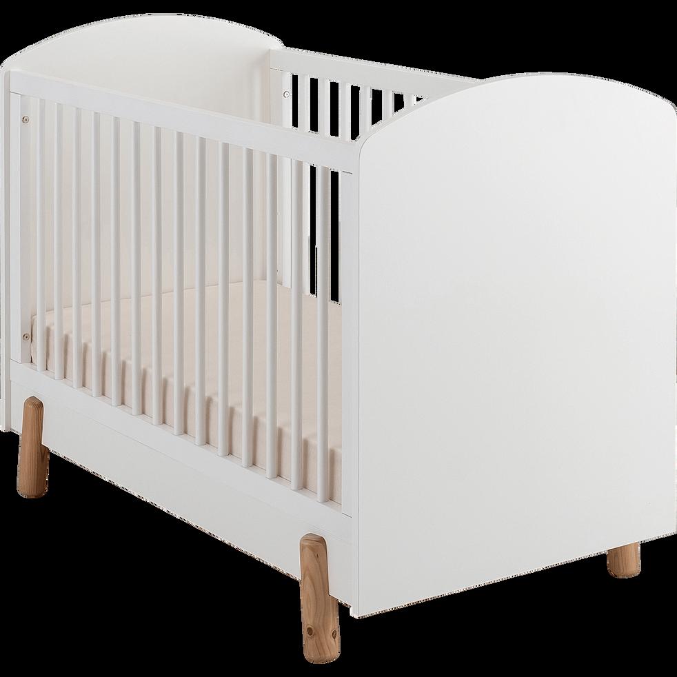 Lit bebe 60x120cm blanc-CANAILLOU