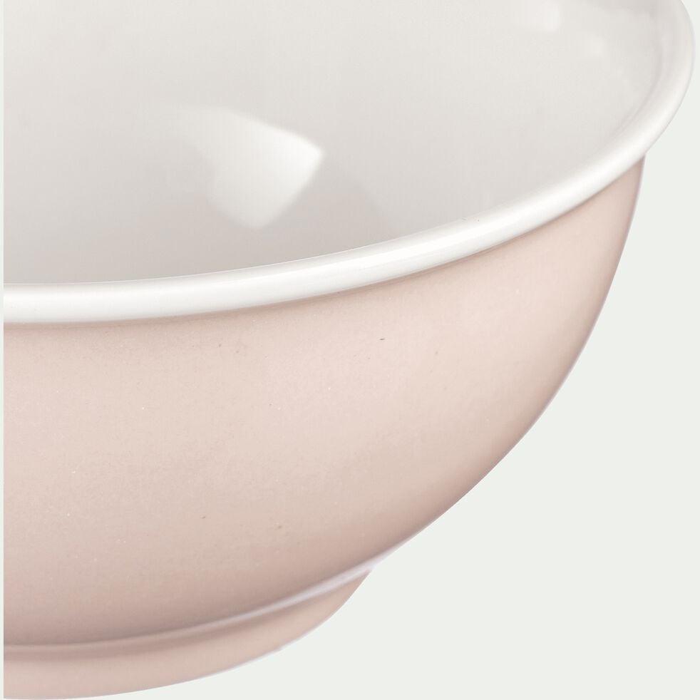 Bol en porcelaine rose grège D14,4cm-CAFI