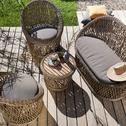 Salon de jardin en résine tressée (4 places)-FEZ