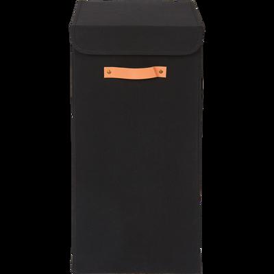 Panier à linge noir H30cm-ERRO