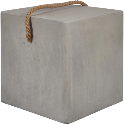 Table d'appoint en grès gris 40x40cm-PAGANE