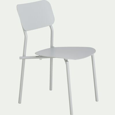 Chaise de jardin en aluminium - gris vésuve-Matias