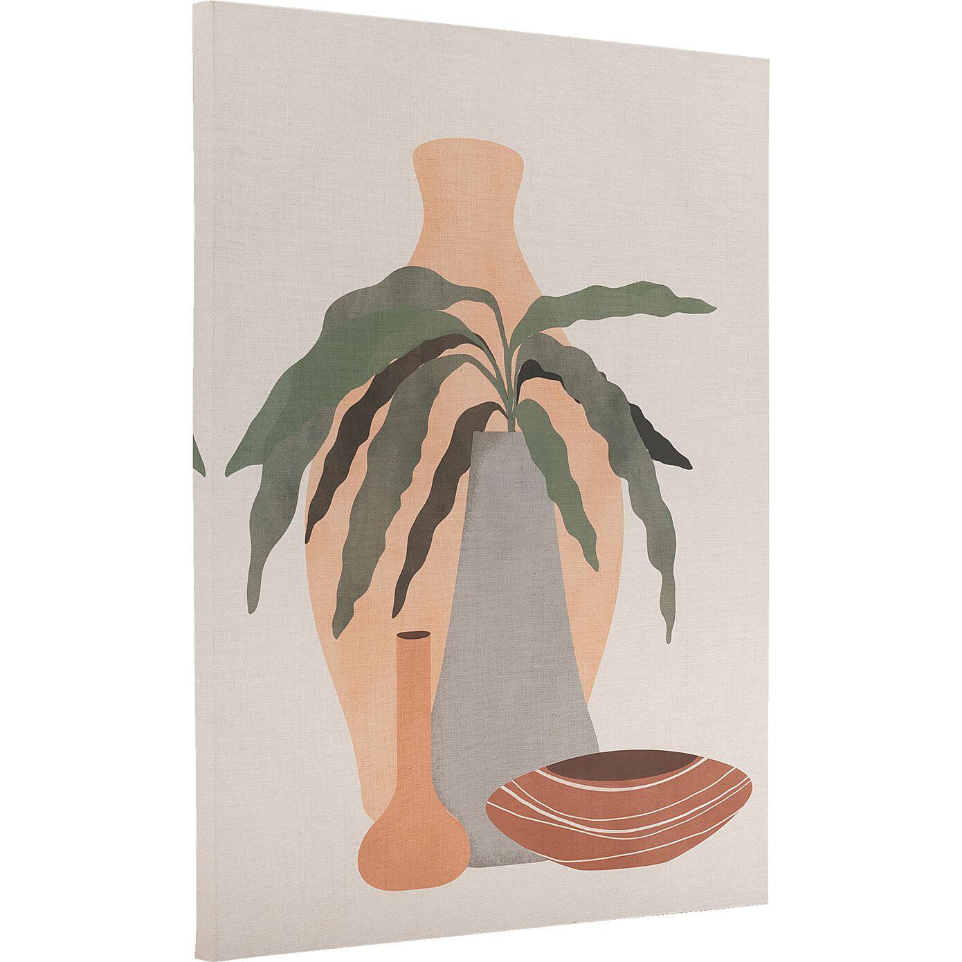 Toile imprimée motif exotique L50xl70m - naturel-AURUOU