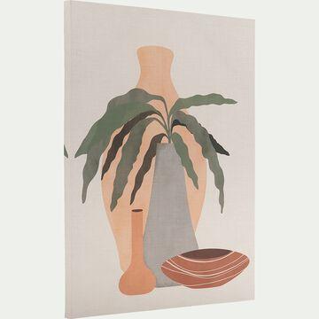 Toile imprimée - L50xl70 motif exotique-AURUOU