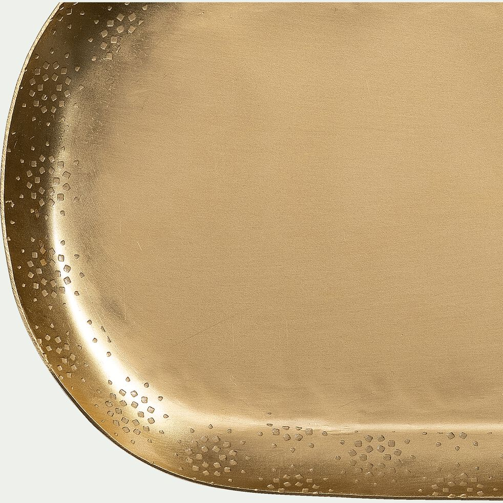 Plateau ovale en fer - cuivré 28x14cm-ALWAR