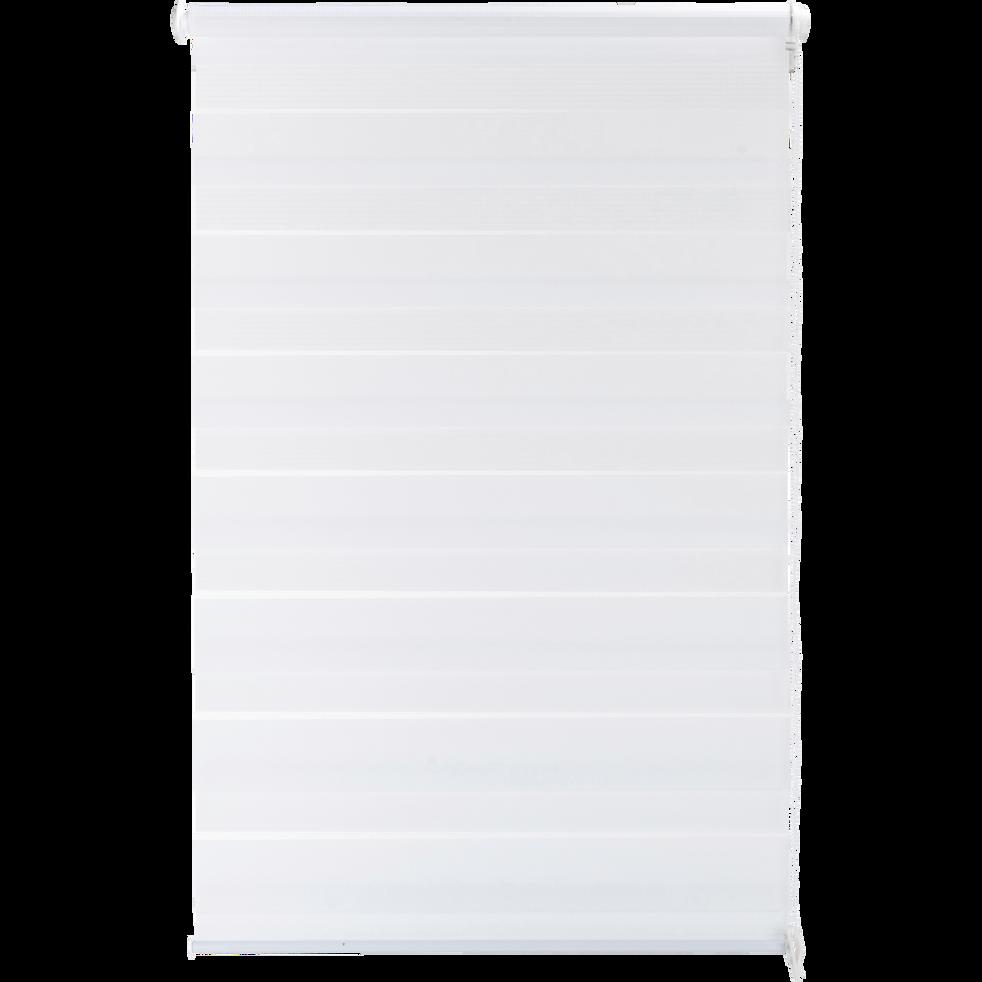 Store enrouleur tamisant blanc 42x190cm-JOUR-NUIT