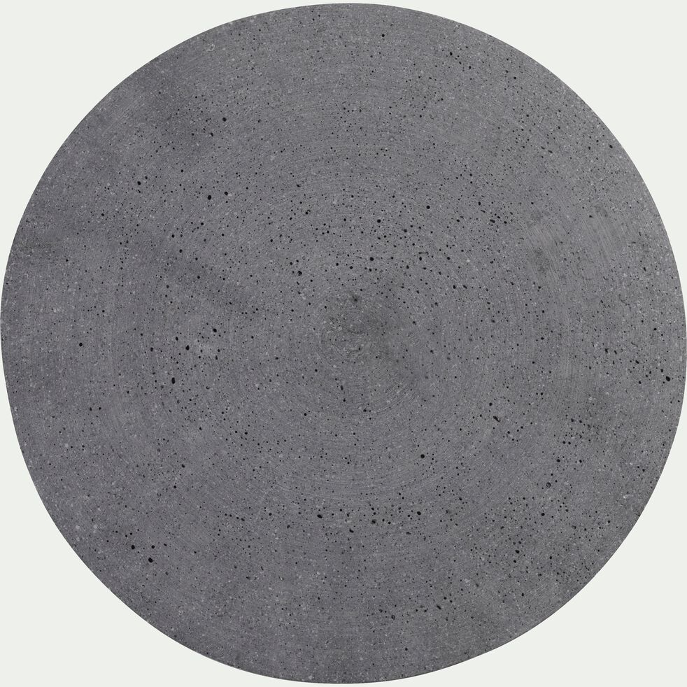 Plateau rond effet béton en polystone - gris D30cm-CALCIS