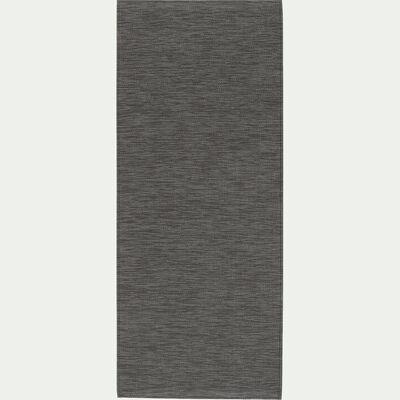 Tapis de cuisine effet tissé brun albe 50x120cm-VITOU