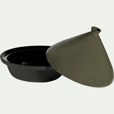 Tajine en fonte et couvercle céramique vert-PADAOU