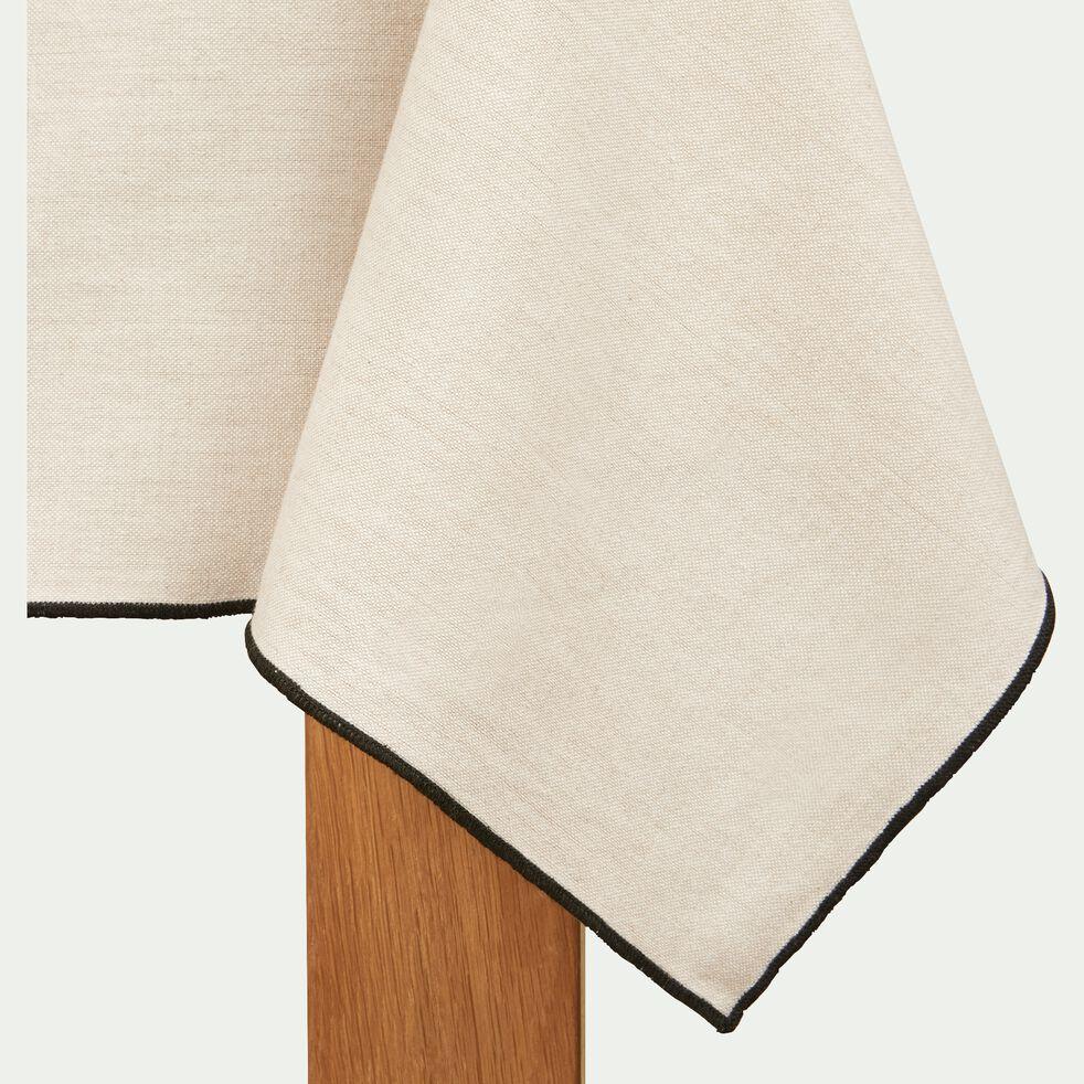 Nappe en coton blanche et noire 170x250cm-LINIA