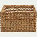 Caisse en jacinthe d'eau - naturel L45xl40xH28cm-BICLOU
