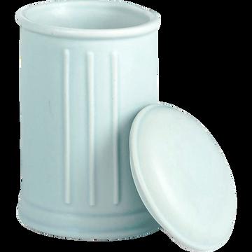 Pot à coton en céramique bleu pastel-MECA