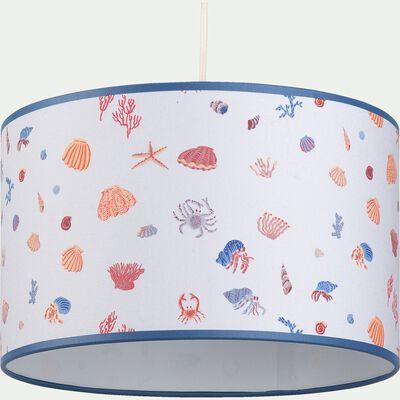 Abat-jour motif marin d35cm - multicolore-Trésor