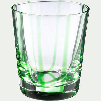 Verre à eau - vert D8xH9cm-MADERE