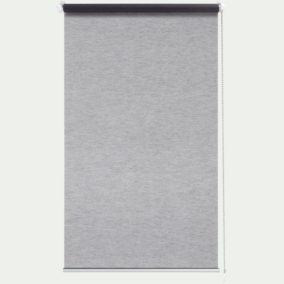 Store enrouleur voile - gris 42x170cm-EASY VOILE