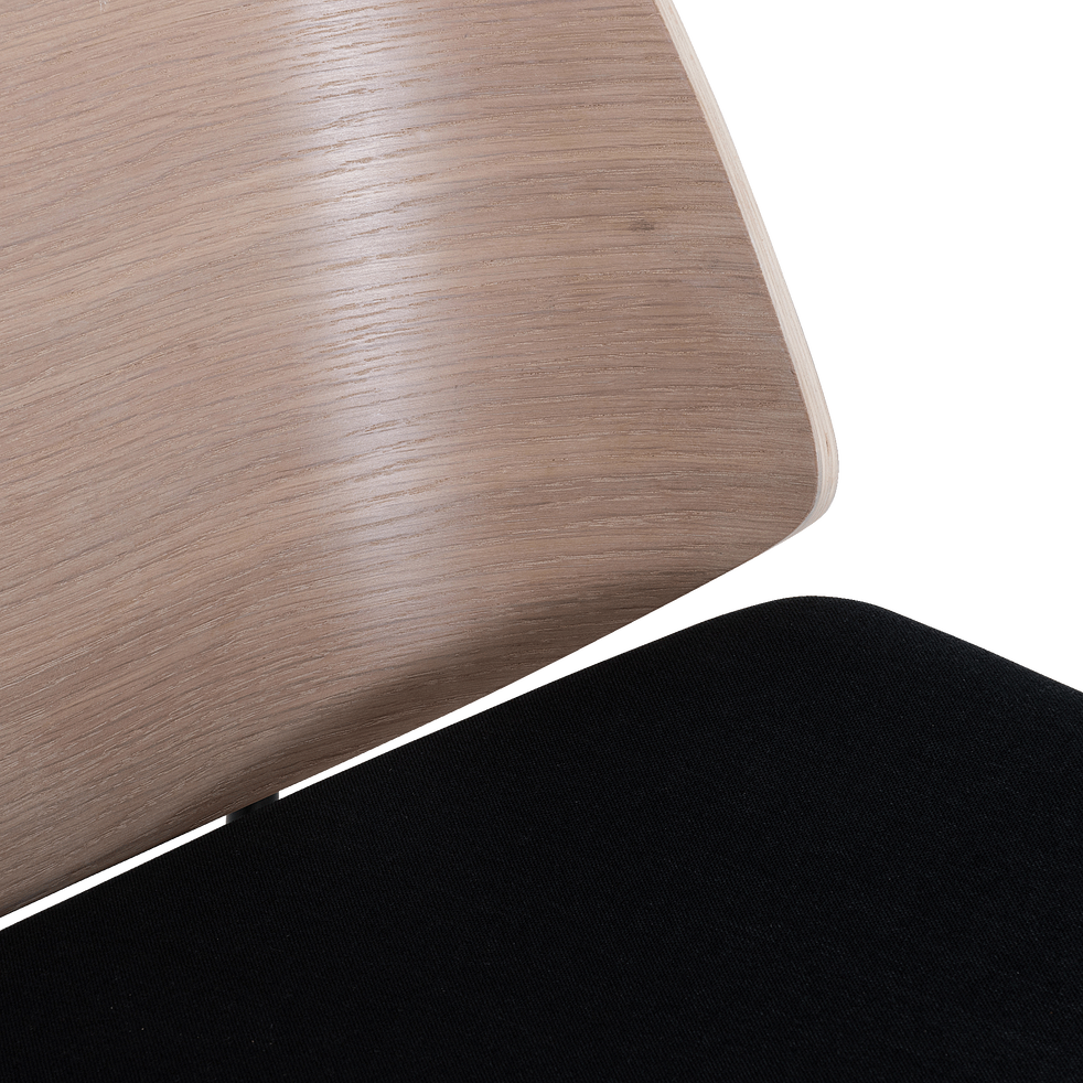Fauteuil en bois imitation chêne naturel-CORDOBA