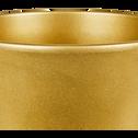 Cache-pot en céramique doré (plusieurs tailles)-TUSCA