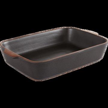 Plat à four noir en grès 34x21cm-DARKSTONE