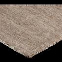 Tapis en laine taupe 160x230cm-Lakos