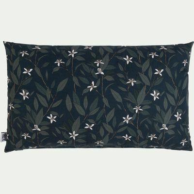Coussin motif Fleur d'oranger en coton - vert 30x50cm-ORANGER