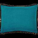 Coussin en coton Bleu 30x50 cm-EVANGELINE