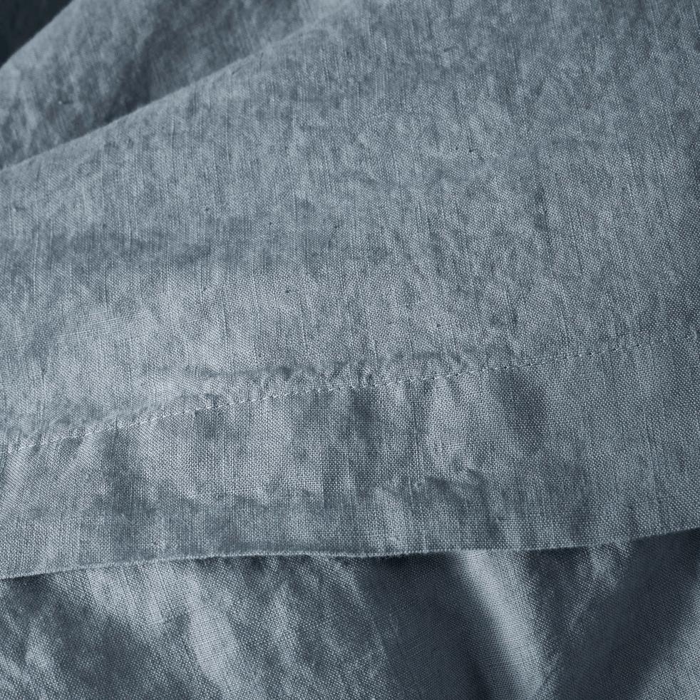 Drap plat en lin gris restanque 270x300 cm-VENCE
