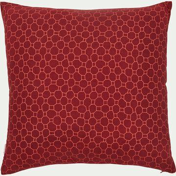 Coussin à motif rouge sumac 40x40cm-CARROS