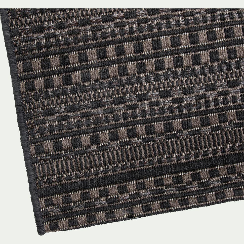 Tapis intérieur et extérieur à motifs - noir 160x230cm-FUVEAU