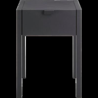 Table de chevet en acier noir 1 tiroir-ANVERS