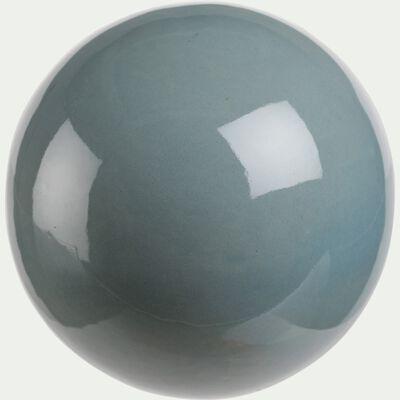 Boule déco en céramique - bleu D9,5cm-CANCE
