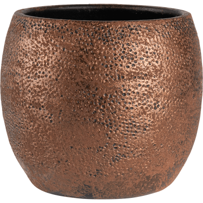 Pot en terre cuite cuivré H18xD20cm-MAURO