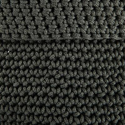 Panier de salle de bain en crochet Vert cèdre Ø15 cm-HONNORE