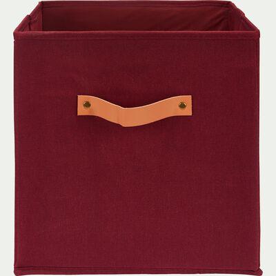 Panier de rangement en polycoton - rouge sumac H31xL31cm-ERRO